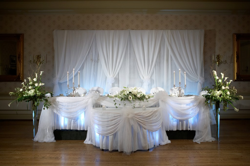head table wedding decorations