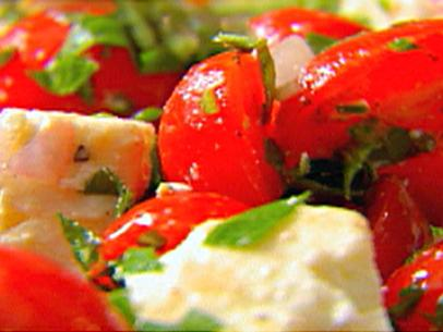 Tomato Feta Basil Salad Delicious Recipes From The Old